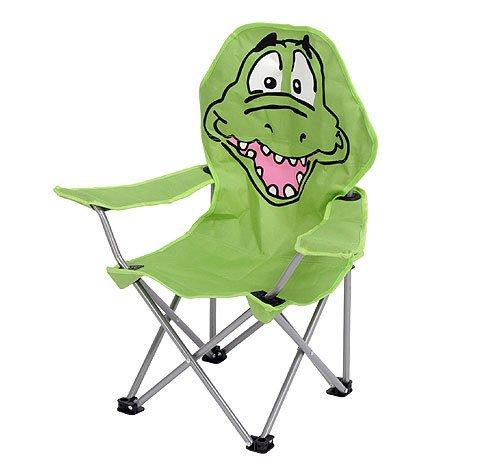 Kinder Klappstuhl Campingstuhl Krokodil -Motiv Grün