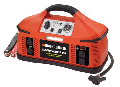 Black Decker VEC026BD Electromate 400 Jump Starter With Built In Air Compressor