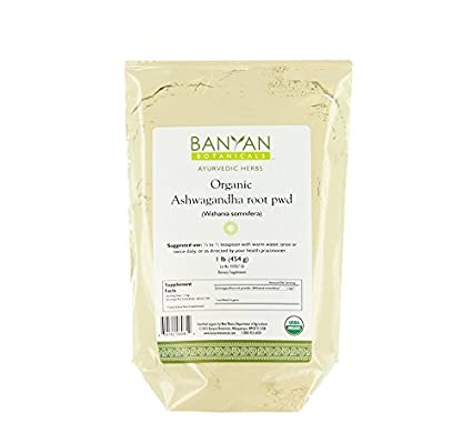 Banyan Botanicals Ashwagandha Powder - Certified Organic, 1 Pound - Withania somnifera - A traditional rejuvenative for vata & kapha that promotes vitality & strength*