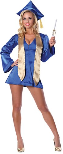 Delicious Women's PhD Darling Sexy Costume, Blue, Large/X-Large