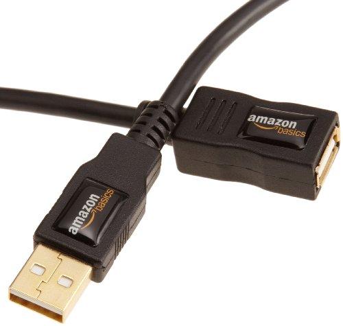 Amazonベーシック USB2.0延長ケーブル 3.0m (タイプAオス- タイプAメス)
