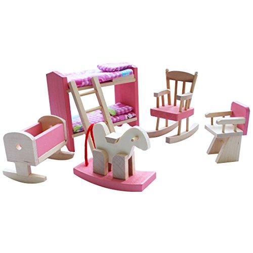 iEFiEL Puppenhaus Möbel Zubehör Holzspielzeug Einrichtung Kleinkind Spielwaren