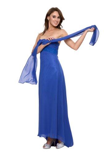 Elegantes langes Abendkleid in Empire Stil, Gr.36, Farbe blau, Astrapahl