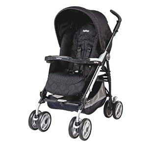 Peg-Perego Pliko P3 Compact Stroller, Pois Black