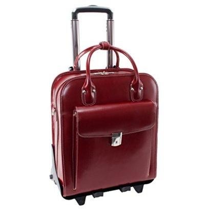 McKleinUSA-LA-GRANGE-96496-Red-Leather-Vertical-Detachable-Wheeled-Ladies-Briefcase
