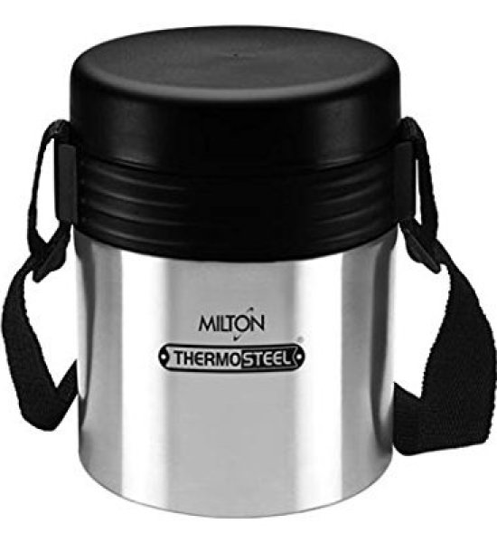 Milton Tuscany 3 Thermosteel Tiffin With Plain Lid ,(EC-TMS-TTF-0001_STEELPLAINCO)