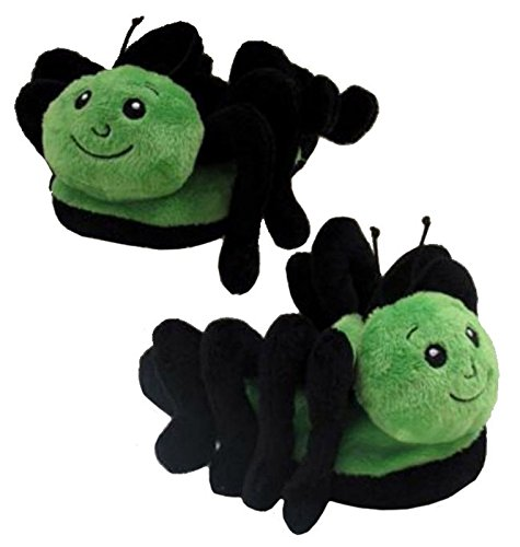 Wishpets Adults Medium Green Grasshopper Slippers