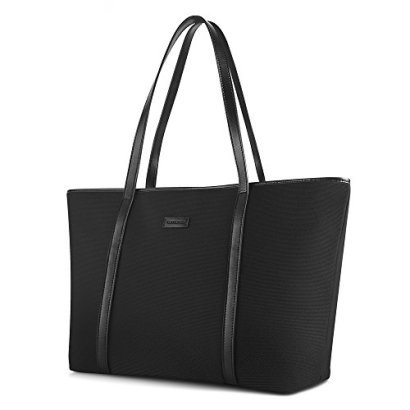 CHICECO-Spacious-Travel-Tote-Shoulder-Bag-for-Women-BlackWine-Red-Lining