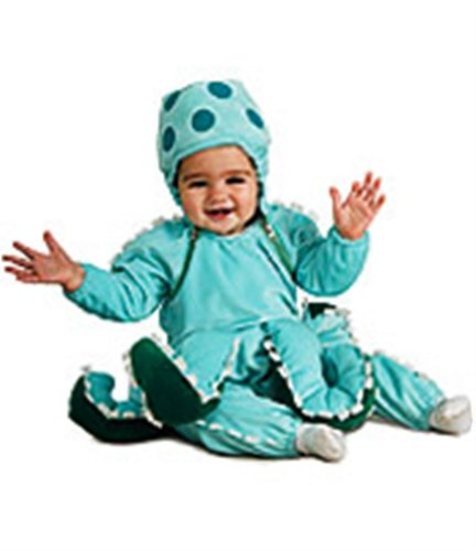 Deluxe Costume, Octopus(Blue, 2T - 4T)