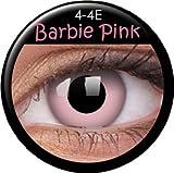 Fasching Kontaktlinsen Farbige Kontaktlinsen crazy Kontaktlinsen crazy contact lenses Barbie pink 1 Paar mit 60ml Kombilösung und Linsenbehälter
