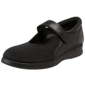 Drew Shoe Women's Bloom II Mary Jane,Black Leather/Stretch,10 N US