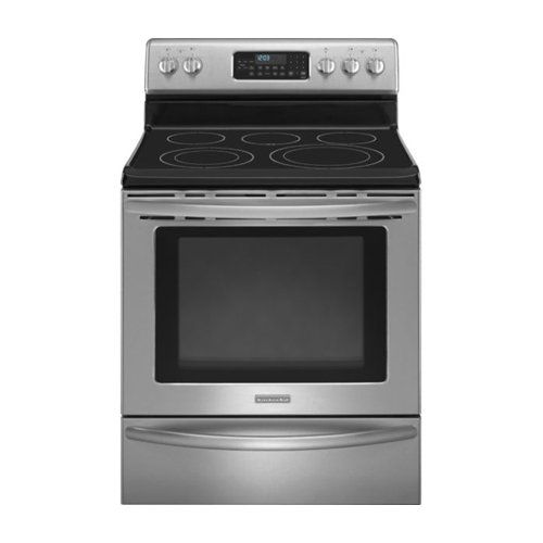 Kitchenaid KERS206XSS 30 Inch, 5 Element Freestanding Range With Convection
