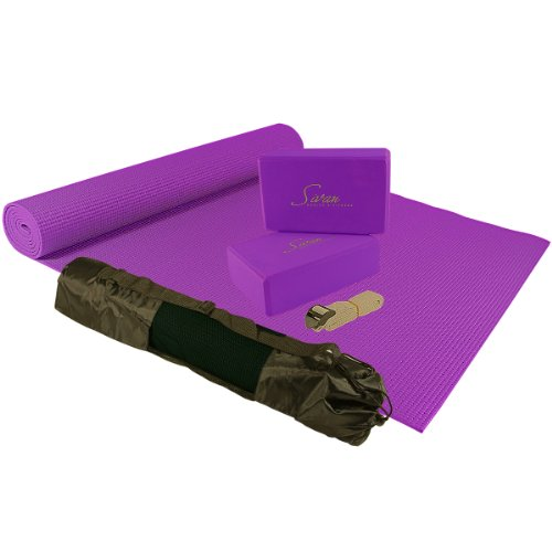 Sivan Health & Fitness 5-Piece Essentials Yoga Beginners Kit