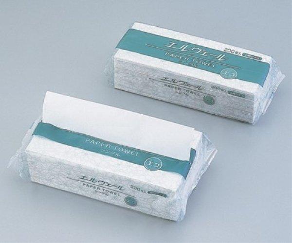 エリエール エルヴェールペーパータオルエコドライシングル 中判 1ケース梱包(200枚×30パック入) 613988