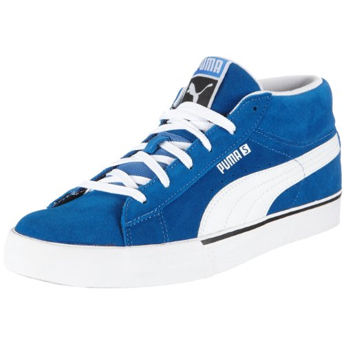 PUMA Puma S Mid 351903, Herren, Sneaker, Blau  (puma royal-white 03), EU 36  (UK 3.5)  (US 4.5)