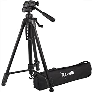"Ravelli APLT4 61"" Light Weight Aluminum Tripod With Bag and Free Mini Wire Leg Tripod"