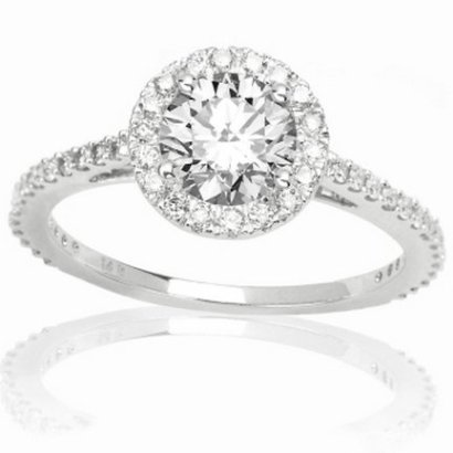 1-Carat-Round-CutShape-Classic-Yet-Unique-Halo-Style-Pave-Set-Diamond-Engagement-Ring-14K-White-Gold-with-a-057-Carat-I-J-Color-I2-Clarity