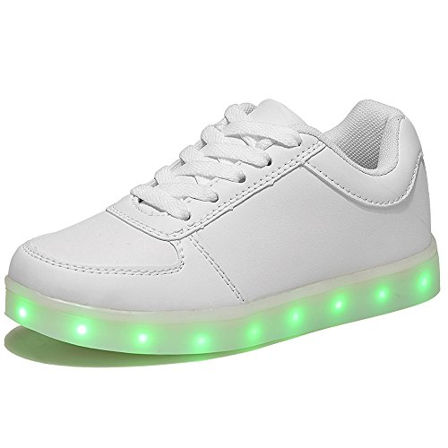 HUSKSWARE Multi-Color LED Lighting Shoes with USB Charging for Little Kid/Big Kid