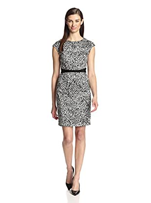 Paperwhite Women's Printed Zip Dress (Black/White)