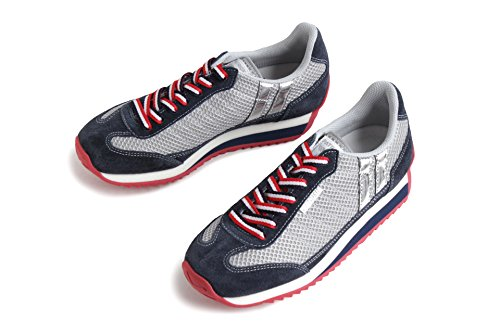 PATRICK パトリック メンズ レディース ( C-MARATHON クールマラソン 527200 CLN / 527204 ASH) ローカット ナイロンメッシュ/ベロア スニーカー 靴 (38 (24.0cm), ASH)