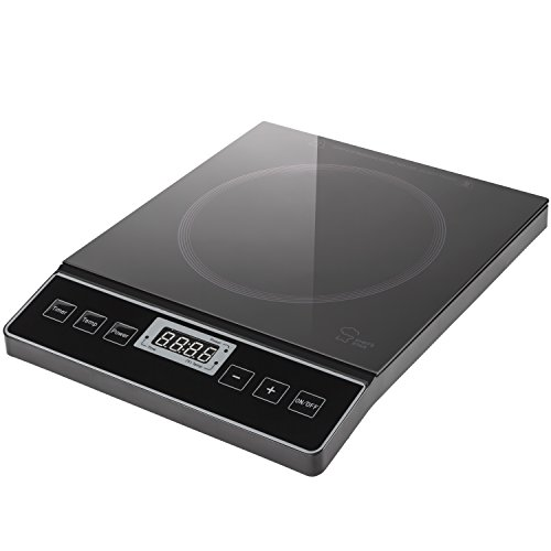Chefs Star 1800W Portable Induction Cooktop Countertop Burner Black