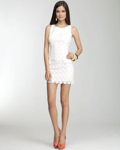 Buy Bebe Boatneck Eyelet Dress White Size Large from bebe