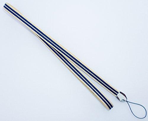 真田紐木綿袋紐3分巾 ネックストラップ(紺)