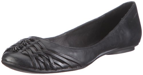 Buffalo London 210-3508 DERBY LEATHER BLACK 01 116903 Damen Ballerinas