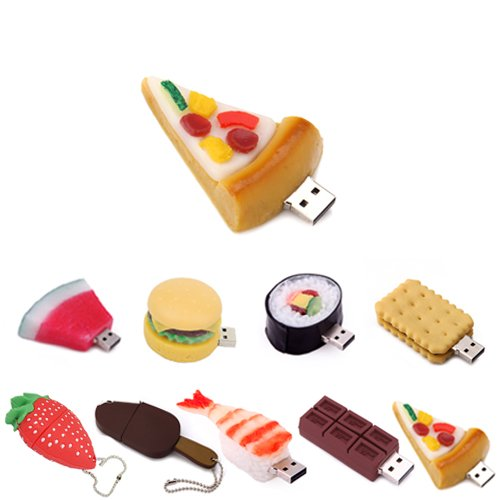 8GB Food Snack Dessert Shaped High Speed USB Flash Thumb Drive Memory Stick (Cold Pizza Slice)