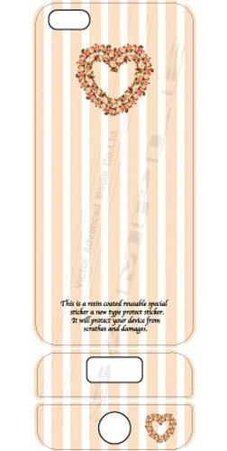 ビクターアドバンストメディア iPhone5/5S デザイナーズデコレーションシール KL-I5HEART-G