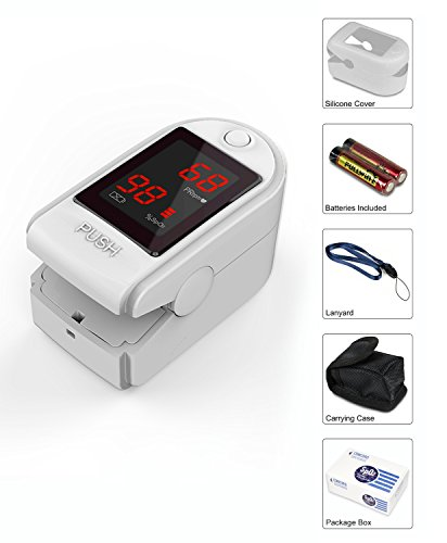Concord Basics Finger Pulse Oximeter - White
