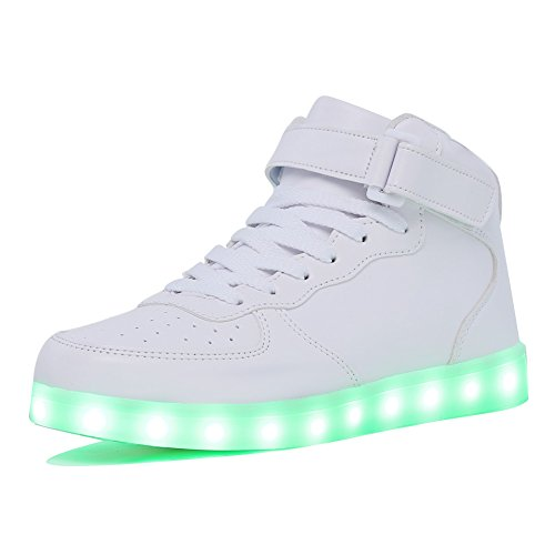 CIOR Kids Boy and Girl's High Top 11 Color Led Sneakers Light Up Flashing Shoes(Toddler/Little Kid/Big Kid)