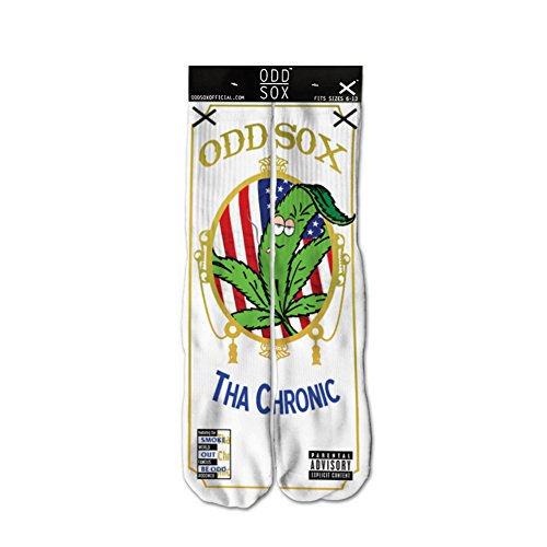 Odd Sox Men's Graphic Socks, Fits Size 6 - 13, Chronic