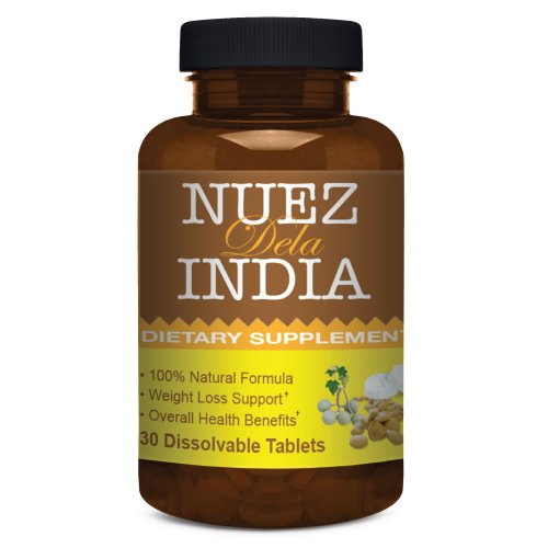 Nuez De La India ® First and Only Weight Loss Dietary Supplement - 30 Dissolvable Tablets, GMP, Made in USA, 100% Natural, Safe and Easy-to-use, One-a-day Solution, 1-Month Treatment - Dissolves in Hot Water: 300% Better Absorption