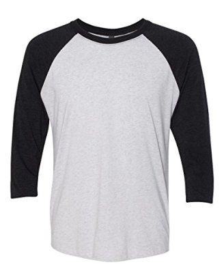 6051-Next-Level-Unisex-Tri-Blend-34-Sleeve-Raglan-Vintage-BlackHeather-White-L