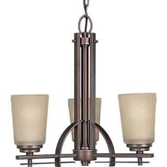 ... Etched Light Topaz Glass, Heirloom - Riverside Chandelier - Amazon.com