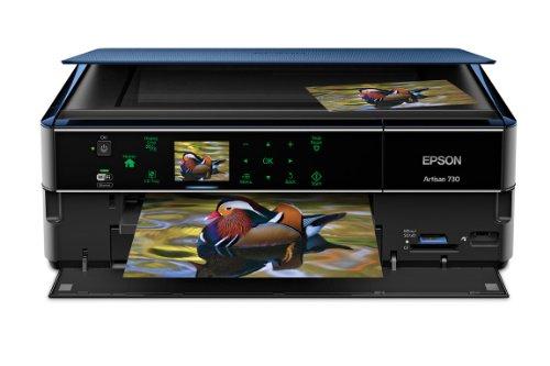 Epson Artisan 730 Wireless All-in-One Color Inkjet Printer, Copier, Scanner (C11CB18201)