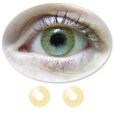 Farbige Kontaktlinsen Monatslinsen Fun ColorMaker Cappuccino mit oder ohne Stärken