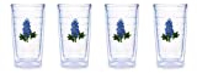 Tervis Tumbler Blue Bonnet 16-Ounce Double Wall Insulated Tumbler, Set of 4