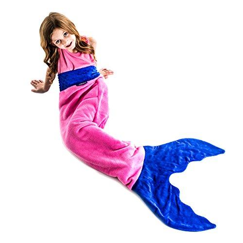 blankie tails mermaid tail blanket,video review,ages 3-12,pink/periwinkle,(VIDEO Review) Blankie Tails Mermaid Tail Blanket (Ages 3-12) (Pink/Periwinkle),
