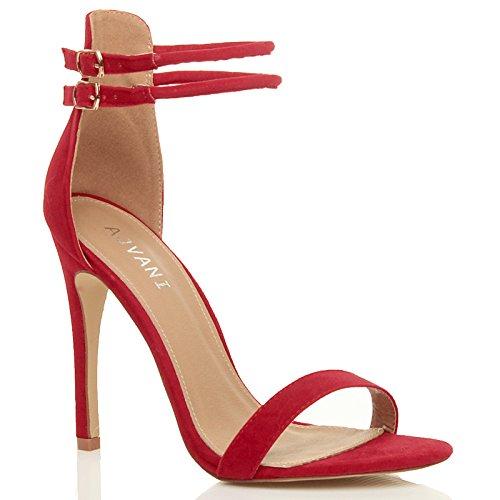 Donna tacco alto appena malapena là caviglia cinghietti festa sandali taglia 6 39