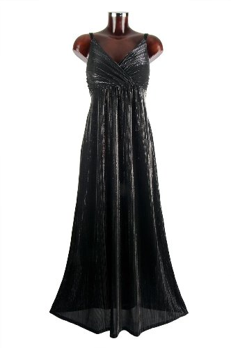 Monty Q Langes Abendkleid Party Maxikleid Schwarz Empire Stil E11 in Groesse 42-44