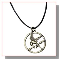 The Hunger Games Movie Mockingjay Pendant on Leather Cord
