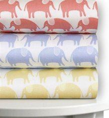 Magnolia Organics Printed Crib Sheet, 300 Thread Count - Standard, Sky