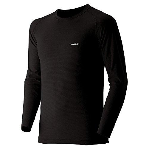(モンベル)mont-bell ジオラインM.W.ラウンドネックシャツ Men's 1107525 BK ブラック L