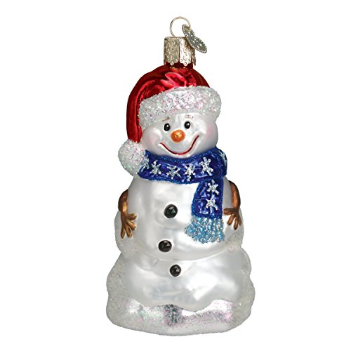 Old World Christmas Happy Snowman Glass Blown Ornament