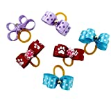 Generic Small Pet Hair Bows Ribbon Dog Cat Puppy Grooming Hair Accessories Assorted Pack of 30