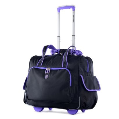 Olympia-Deluxe-Fashion-Rolling-Overnighter-BlackPurple-One-Size
