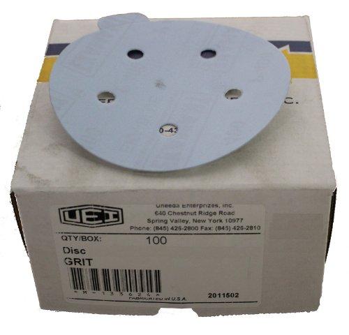 Uneeda Enterprizes, Inc M-132484 M-132484 5-Inch x 5 Hole Vented HV No 120 Grit Ekablue Aluminum Oxide PSA Square Tab Sanding Disks