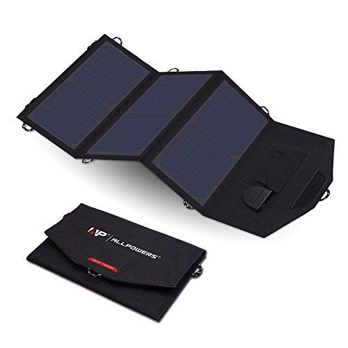 ALLPOWERS 18V 20W ソーラーパネルチャージャーiSolar機能搭載 18V DC出力 ポータブル充電器 18V1A以下のノートパソコン 携帯電話 タブレット ipad mini ipod iphone  Samsung Blackberry GPS Units デジタルカメラ PSPビデオゲーム Bluetoothヘッドセット及びその他のデジタル製品に対応